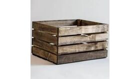 "Image of a 22"" Wooden Crate (Dark Stain)"