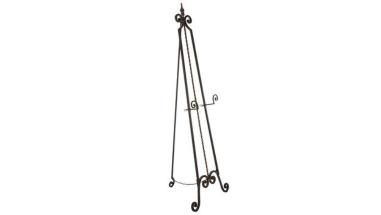 Picture of a Easel, Black Wrought Iron Swirl