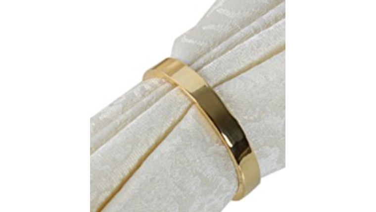 Picture of a Napkin Ring-Narrow Gold Band