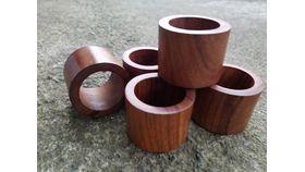 Image of a Napkin Ring-Dark Wood