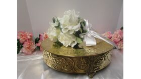 """Image of a Gold Round Cake Stand 13.75"""" X 3.50"""""""