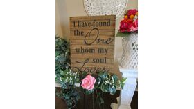 "Image of a "" I have found the one whom my soul loves"" sign 16 x 23"""