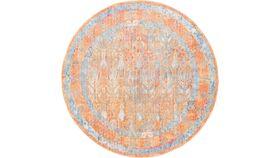 Image of a 6' Round Gold Boho Rug