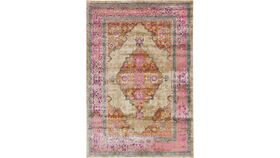 Image of a 6'x9' Pink & Taupe Rug