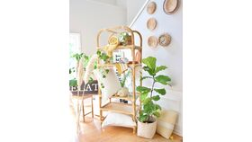 Image of a Rattan Etagere