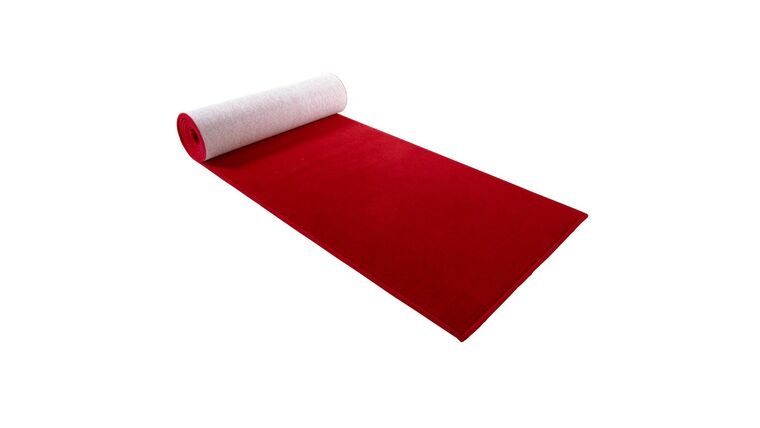 Picture of a 10' red carpet