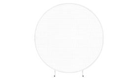 Image of a 6.5ft White Metal Grid Circle Display