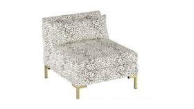 Image of a White Speckled Slipper Chair