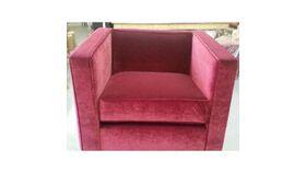 Image of a Burgundy Velvet Club Chair