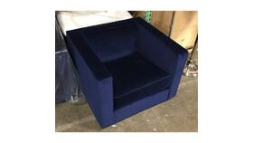 Image of a Blue Velvet Club Chair