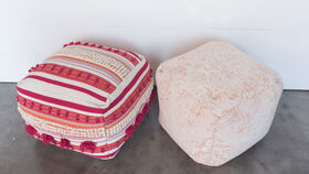 Image of a Pink Poufs
