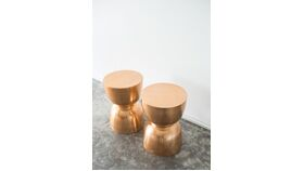 Image of a Figure 8 Copper Side Table