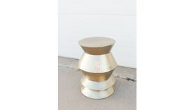 Image of a Gold Hammered Side Table