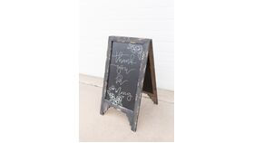 Image of a Black Easel Chalkboard