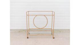 Image of a Gold Modern Bar Cart