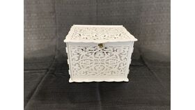 Image of a White Lazer Cut - Reception Card Holder
