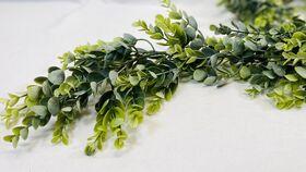 Image of a 6' Dusty Green/Blue Eucalyptus Garland