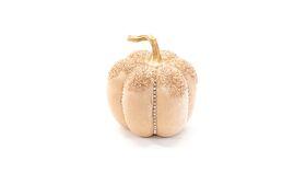 Image of a Champagne Glitter Pumpkin