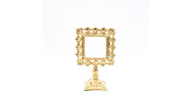 Image of a Ornate Gold Pedestal Frame - Square with Square Base