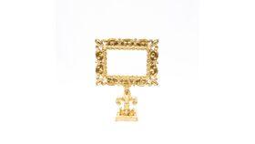 Image of a Ornate Gold Pedestal Frame - Fleur de Lis Base