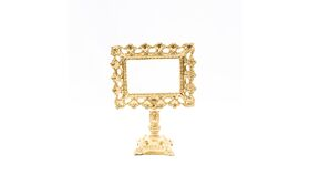 Image of a Ornate Gold Pedestal Frame with Square Base