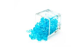 Image of a Aqua Blue Acrylic Ice Gem - Large