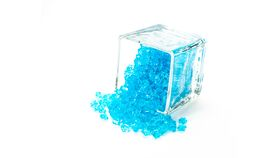 Image of a Aqua Blue Acrylic Ice Gem - Small