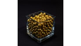 Image of a Gold Glitter Styrofoam Balls