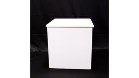 Image of a White Card Cube - Reception Card Holder