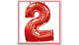 Image of a 34 inch Red 2 Balloons