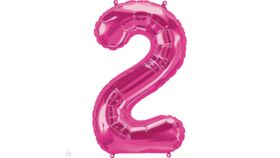 Image of a 34 inch Magenta 2 Balloons