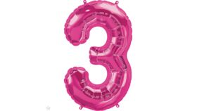 Image of a 34 inch Magenta 3 Balloons