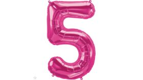 Image of a 34 inch Magenta 5 Balloons