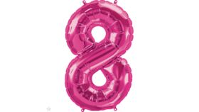 Image of a 34 inch Magenta 8 Balloons