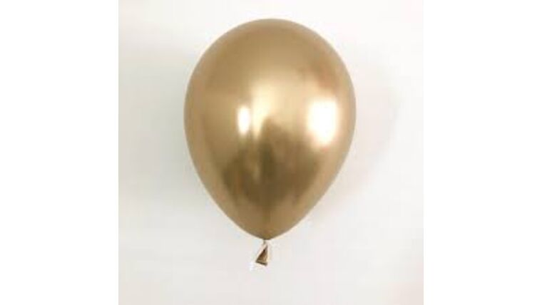 """Picture of a 11"""" Gold Chrome  Latex Balloons"""