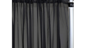 "Image of a 10' 120"" Voile Black Backdrops"