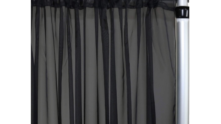 """Picture of a 10' 120"""" Voile Black Backdrops Panel"""