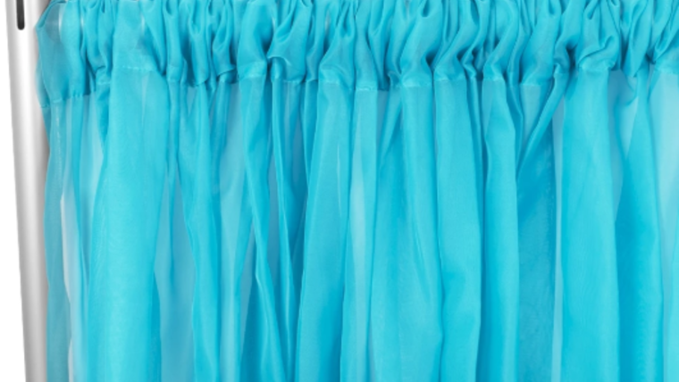 "Picture of a 10' 120"" Voile Aqua Backdrops Panel"