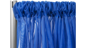"Image of a 10' 120"" Voile Royal Blue Backdrops"