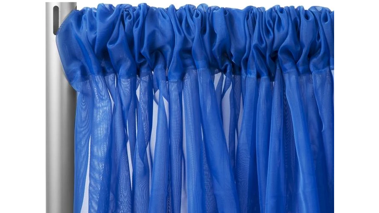 """Picture of a 10' 120"""" Voile Royal Blue Backdrops Panel"""