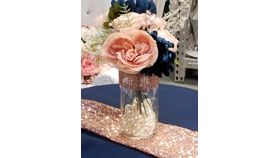Image of a Rose Gold Blooms Centerpiece
