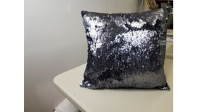 Image of a Mermaid Navy Blue Pillow