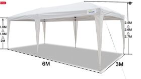 Image of a 10 X 20 White Tent