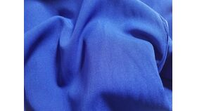 "Image of a 108"" Round Royal Blue Polyester Tablecloth"