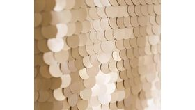 Image of a 8' 8' Big Coin Sequins Honey Gold Backdrops