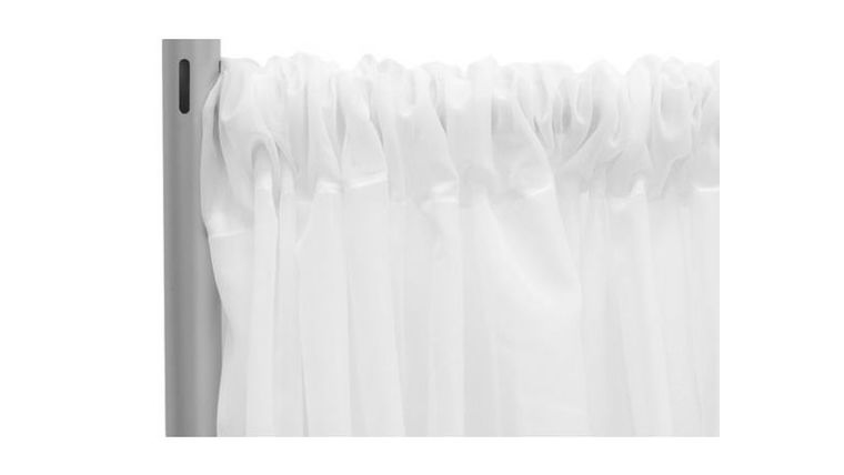 """Picture of a 10' 120"""" Voile White Backdrops Panel"""