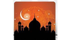 Image of a 8' 8' Arabian Nights Spandex Backdrops