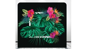 Image of a 8' 8' Tropical Frame Spandex Backdrops