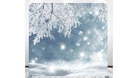 Image of a 8' 8' Winter Bokeh Spandex Backdrop