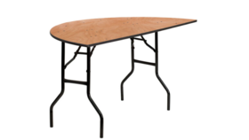 Image of a 4ft Half Moon Folding Table